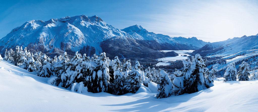 St. Moritz towards upper valley by Sonderegger