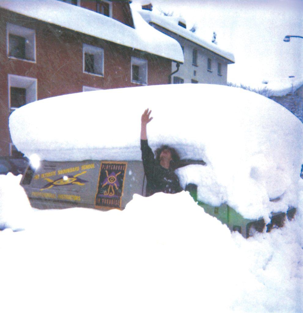 November snow in Silvaplana, 1993